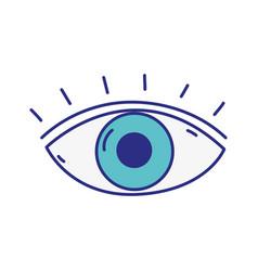 human eye vision with eyelashes design vector image vector image