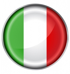 Italy flag button vector image vector image