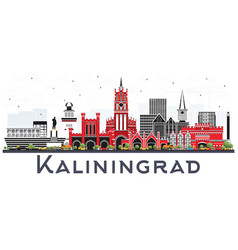 Kaliningrad russia city skyline with color vector