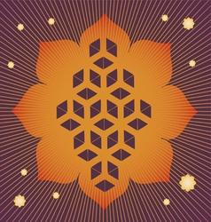 lotus seed magic poster vector image vector image
