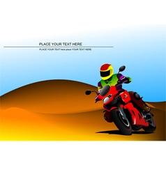 al 0817 motorcycle vector image