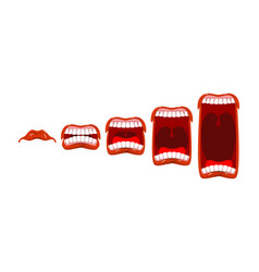changes in sound level volume yelll stage scream vector image vector image