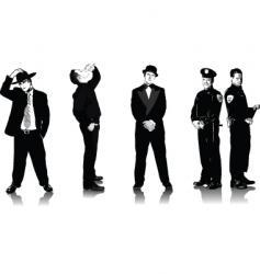 five men vector image