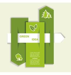 Grey-green website with arrow vector image vector image