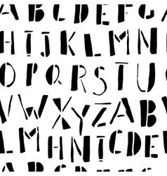 Hand-drawn Doodles Alphabet Seamless Pattern vector image