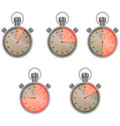 Stopwatch set with isolated sector vector image vector image