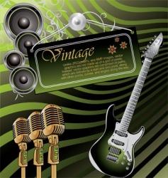 vintage rock music background vector image vector image