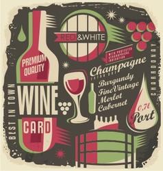 Wine list document template vector image