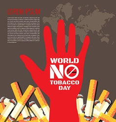 World No Tobacco Day background vector image vector image