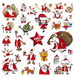 christmas characters cartoons vector image vector image