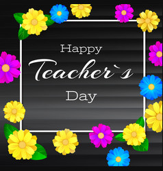 happy teacher day greeting banner for your vector image vector image