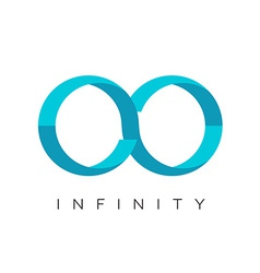 Infinity logo flat colors template vector image vector image