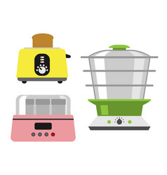 old fashioned toaster vector image vector image