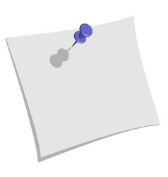 pin and paper vector image vector image