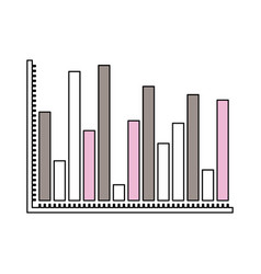 silhouette color sections of statistical graphs vector image vector image
