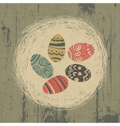 vintage easter eggs vector image vector image