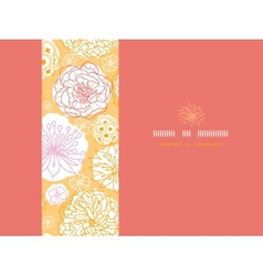 Warm day flowers horizontal seamless pattern vector image vector image