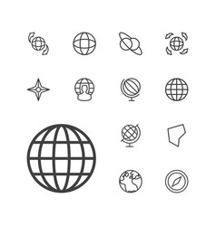 13 geography icons vector