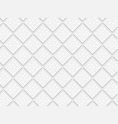 3d white rhombuses and squares in seamless pattern vector image