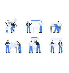 architect engineer construction worker vector image