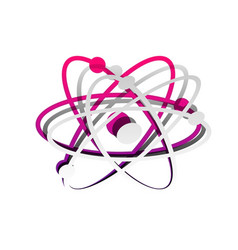 atom sign detachable paper vector image