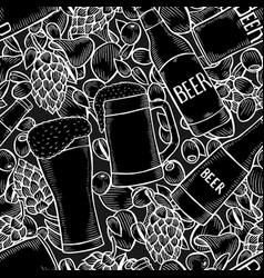 background of beer vector image