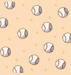 baseball sport balls background vector image