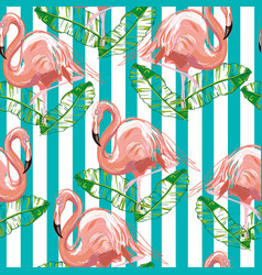 Beautiful seamless tropical pattern background vector