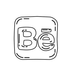 behance icon doodle hand drawn or black outline vector image