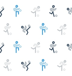 Blue black soccer team pattern and background vector