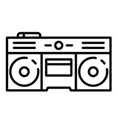 boom box icon outline style vector image