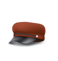 brown woman military cap vector image