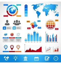 Business Infographics Layout Design Elements vector