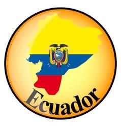 Button Ecuador vector