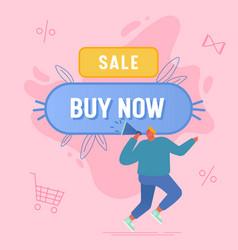 Buy now concept alert advertising campaign vector