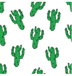 Cactus seamless pattern modern fashion background vector