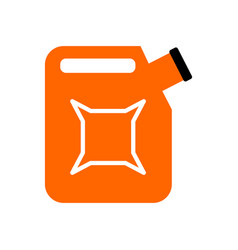 canister isolated jerrican of gasoline on white vector image