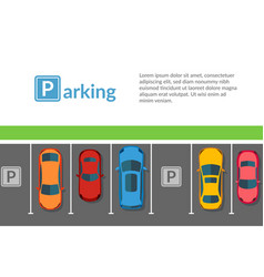 cars free parking top view flat vector image