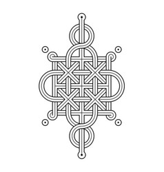 celtic knot - single chain - wand top loop sides vector image