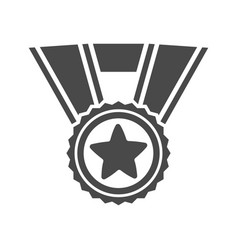 champion award medal with star icon vector image