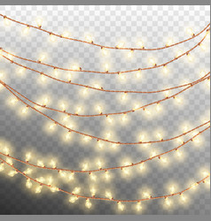 Christmas decoration lights effects eps 10 vector