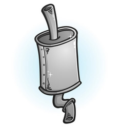 Clean new muffler cartoon vector