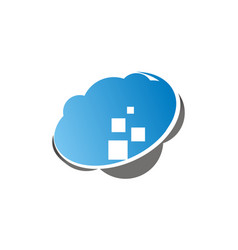 cloud data virtual vector image