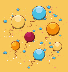 colorful balloons design vector image