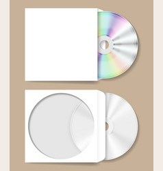 Compact disk in paper envelope vector