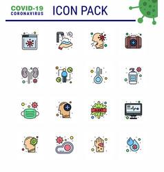 Coronavirus prevention 25 icon set blue infected vector
