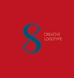 Creative logo with a double meaning the letter x vector