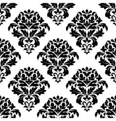 Damask floral pattern design vector