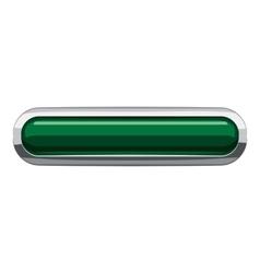 Dark green rectangular button icon cartoon style vector