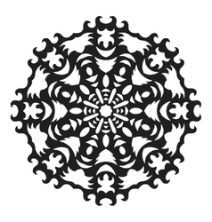 Decorative round ornament Lace Silhouette of vector